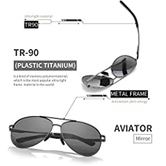 FEIDU Sunglasses man - Pilot sunglasses mens with Ultra-Light Metallic Metal Frame and Women Mens sunglasses FD9002 #2