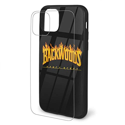 ASIUHAWF892A Funny Flame Backwoods Case for iPhone 11 / Pro/Pro Max Cover TPU Glass Case iPhone 11