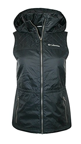 Columbia Women's Cedar Express II Full Zip Hooded Vest (Small) Black