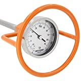 REOTEMP Heavy Duty Compost Thermometer with Probe Guard Bundle - Fahrenheit and Celsius, Made in The USA (36 Inch Stem)