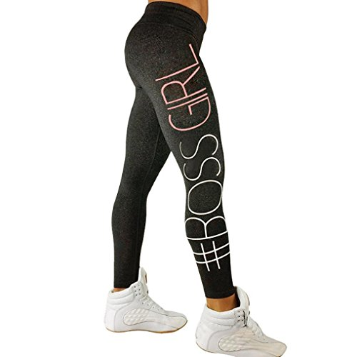 Gillberry Women's Workout Leggings Fitness Sports Running Yoga Athletic Pants (S, Dark Gray B)