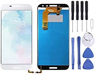 Repair Parts LCD Screen and Digitizer Full Assembly for Vodafone Smart N8 VFD610(Black) Spare Parts (Color : White)