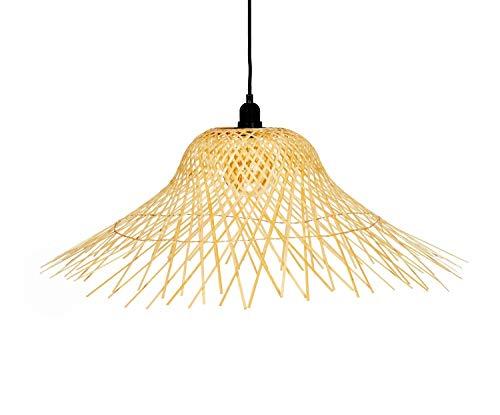 ANDREA HOUSE Lámpara de Techo de bambú con Forma de Sombrero