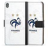 DeinDesign Étui Compatible avec Sony Xperia E5 Étui Folio Étui magnétique Football France...