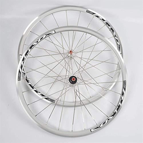 Llanta de bicicleta 700c Juego de ruedas de bicicleta Freno de llanta Llanta de bicicleta de carretera CNC Rodamientos sellados de liberación rápida Bujes Cassette de 7-11 velocidades Rueda libre Llan