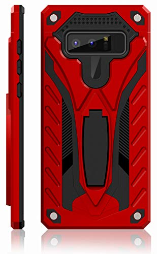 Samsung Galaxy Note 8 Case | Military Grade | 12ft. Drop Tested Protective Case | Kickstand | Wireless Charging | Compatible with Galaxy Note 8 - Red
