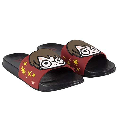 Characters Cartoons Harry Potter – Zapatillas de tela para niño, zapatillas bajas con luces LED – 26/33 – Licencia oficial – Primavera Verano Rojo Size: 28/29 EU