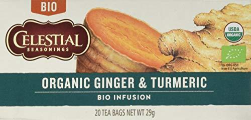 Celestial Seasonings Organic Ginger Turmeric Herb Tea, 29 g