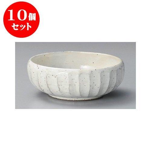 10個セット シリーズ丼 粉引鉄彩6.0漬物鉢 [17.5 x 6.3cm] 土物 【料亭 旅館 和食器 飲食店 業務用 器 食器】