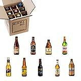 Caja selección cervezas del mundo. 9 cervezas perfectas para descubrir cervezas de Europa, Asia y América.