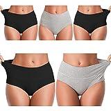 Women's Soft Cotton Underwear Panties, Stretch Comfort Brief Underwear for Women-5 Pack -Multi -L.