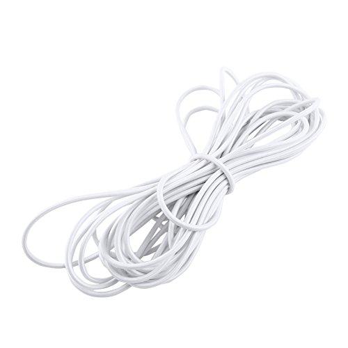 5mm Diamètre élastique élastique câble de choc cordon élastique pour le remplacement, la réparation et à l'extérieur (blanc10m)