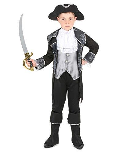 Generique - Déguisement Pirate Gris et Noir garçon L 10-12 Ans (130-140 cm)