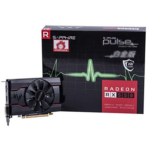 LYEJFF Scheda Grafica da 4 GB RX550 4G DDR5 DDR5 128BIT Card Video Gaming Gaming Scheda Grafica Discrete Compatibile con DVI-D/DP/HDMI