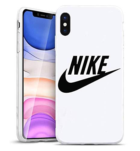 Just Do It Logo iPhone XS MAX Funda, Carcasa Silicona Protector Anti-Choque Ultra-Delgado Anti-arañazos Case Caso para Teléfono iPhone XS MAX, Blanco