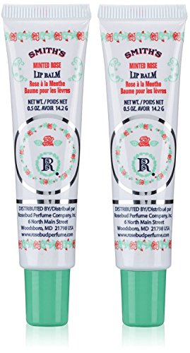 Smith#039s Rosebud Perfume Co Minted Rose Lip Balm in a Tube 5 oz  2Pack