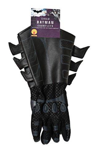 Batman The Dark Knight Kinder Handschuhe Kostüm Zubehör Lederoptik schwarz