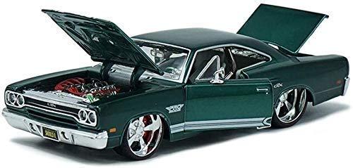 Modelo de coche modelo del coche de 01:24 Plymouth GTX coche modelo de simulación de aleación modelo de coche de deportes de metal original modelo de coche Adornos 20x10x8CM Modelo de vacaciones coche