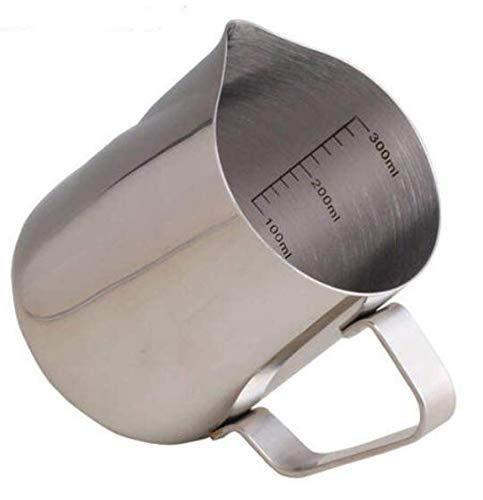 ITALPARTS Jarra de leche de 300 ml, acero inoxidable.