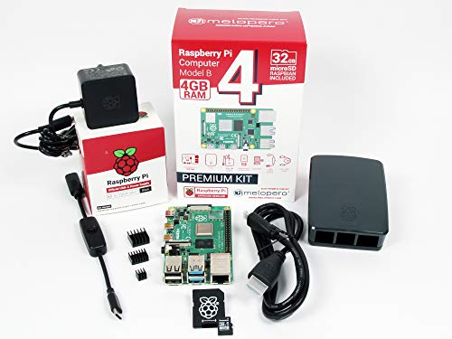 Raspberry Pi 4 Computer 4 GB RAM Officieel Premium Kit met MicroSD 32GB (Black)