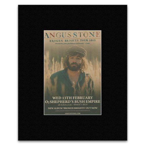 Angus Stone - Broken Brights Tour 2013 Matted Mini Poster - 13.5x10cm