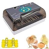Egg Incubator, Digital Egg Incubator 4-35 Eggs Hatcher Incubator with Automatic Egg Turnin...