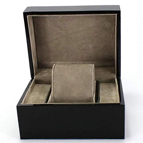 ZHENAO Caja de reloj – Caja de reloj de madera organizador de almacenamiento, regalo para hombre – Negocio negro