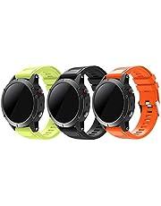TOPsic Garmin Fenix 5 bransoletka do zegarka sportowego – silikonowy pasek sportowy do zegarka na rękę z narzędziem do smartwatcha Garmin Fenix 5