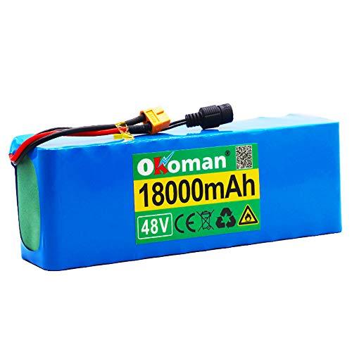 Paquete Batería De Iones De Litio para Bicicleta Eléctrica De 48v 13s3p...