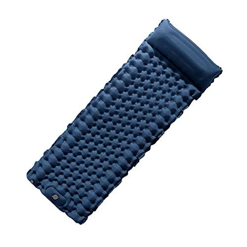 HLGQ Pad Sonno per Campeggio Gonfiabile, 78.7x29.5x2.8inch, Tappetino per Adulti di Grandi Dimensioni con Cuscino, Leggero e Compatto, Impermeabile per Escursioni a Piedi e da Viaggio,Dark Blue