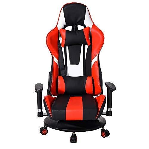 Pananaゲーミングチェア 360度回転 極坐座椅子 ゲームチェア 165度リクライニング アームレスト可動肘 ヘッ...