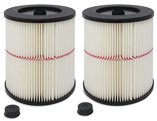Fette Filter - Pack of 2 - General Purpose Cartridge Filter | Replacement Filter Compatible with Craftsman Red Stripe Vacuums - Compare to Part #17816 9-17816