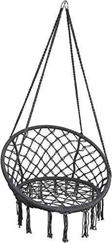 Hamaca Silla de Hamaca (Capacidad de Carga de hasta 150 kg), Silla Colgante pequeña, Hamaca, Swing de nidos, Swing de jardín, Silla columpia cómoda para niños y Adultos, Interiores y Exteriores