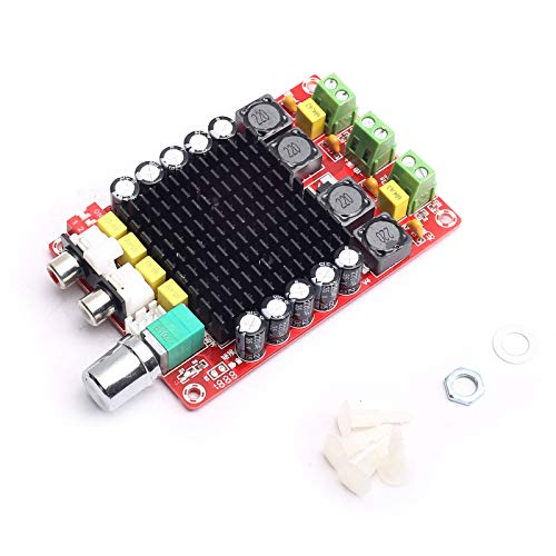 DEVMO TDA7498 100W + 100W Dual Channel Class D Audio Amplifier Board, DC 24V Digital Stereo Power Amp Module for 8Ω Home Theater Subwoofer Computer Speaker Motorcycle