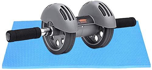 Doppelräder Fitnessgeräte Bauch Übungs-Rolle mit Smart Bremse und Zugstufe Knieschoner Radkern und Bauchtrainer XMJ