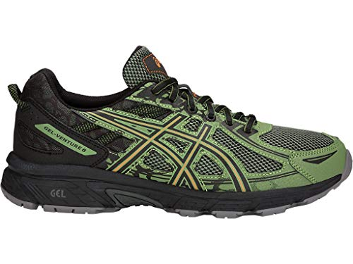 ASICS Men's Gel-Venture 6 Running Shoes, 10.5M, Cedar Green/Lava Orange