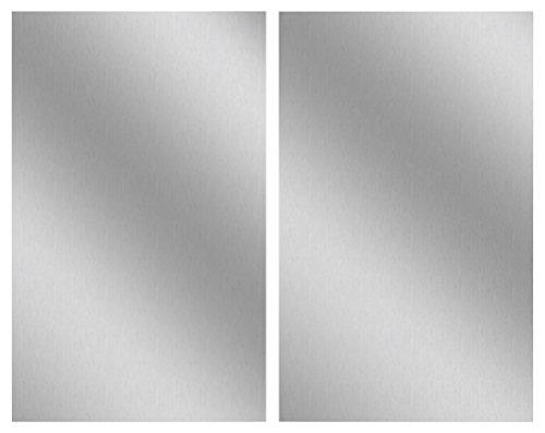 Wenko Herdabdeckplatte Edelstahl 2er Set, für Glaskeramik-Kochfelder, Silber matt, 27 x 48.5 x 1,8 cm