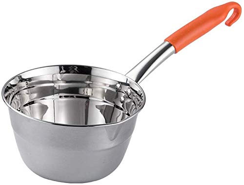Dljyy waterlepel, voor keuken, ketel, eenvoudig van roestvrij staal, met lange greep, water (kleur: oranje, maat: 1,25 l), 1.25L, Oranje