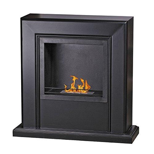 Divina Fire biocamino a bioetanolo MDF nero riscaldamento design casa STOCCOLMA