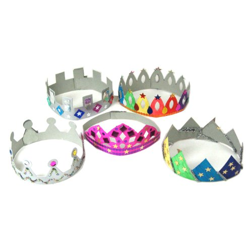 Anthony Peters Make Your Own Crowns & Tiaras Art and Craft Activity Pack (Pack of 12)