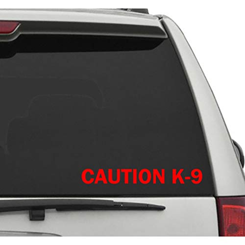 Seek Racing Caution K-9 Decal