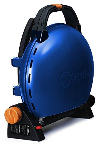 Iroda O-Grill 500 – Barbecue à Cartouche, 44.5 x 21.5 x 45 cm, Couleur Bleu métallisé