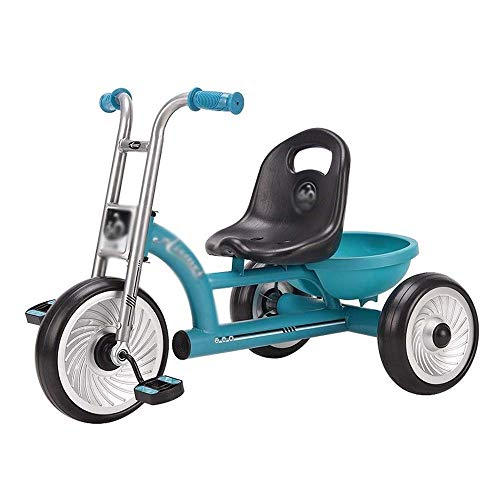 Children's Tricycle, Kids Tractor driewieler met verstelbare stoel, Steel Construction, Light Weight Kids Driewieler, Peuter Bike (Color : Blue)