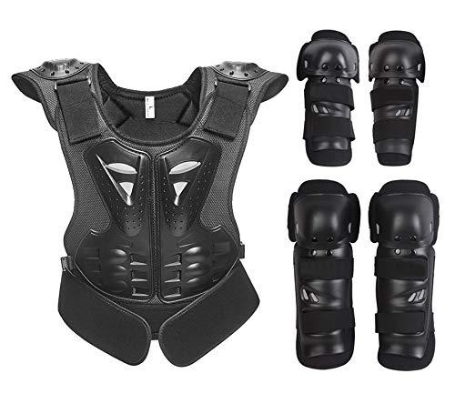 HBHHYRT Motorrad Schutzkleidung Professionelle Brustpanzer Motocross Motorrad Protektorenjacke Herren Damen Kinder Schutzausrüstung,S(HSGAV)