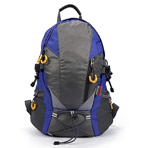 RJJ Outdoor Mountaineering Bag Ultra Light Backpack Men's Shoulder Bag Female Travel Bag Sports Walking Bag 30L To Send Rain Cover (Color : Blue)