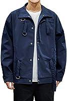 Giacca da uomo leggera, casual, calda, invernale, primavera, autunno, aviatore, moderno, Streetwear con cintura...