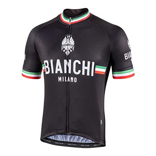 Bianchi Milano Herren Isalle Kurzarmtrikot M Schwarz