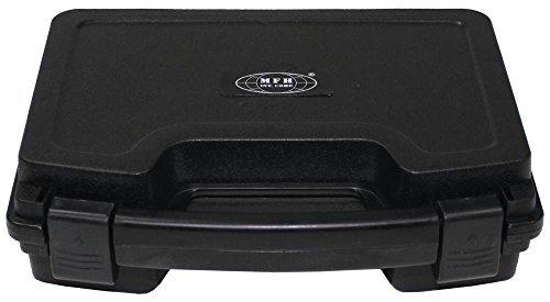 Pistolen-Koffer, Kunststoff, klein, abschließbar, schwarz