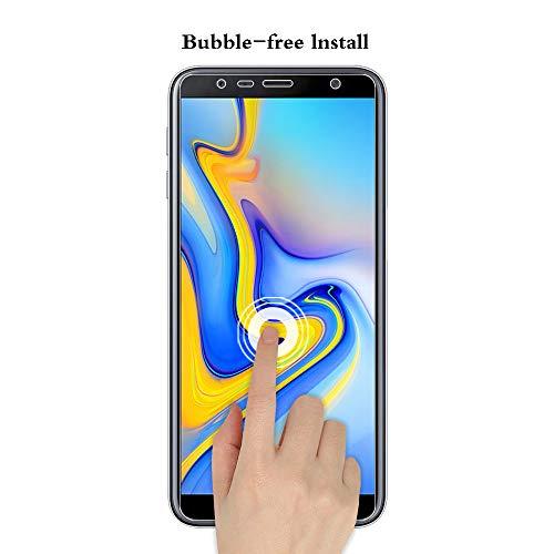 ANEWSIR 3 Stück Panzerglas Schutzfolie Kompatibel mit Samsung Galaxy J4 Plus/j6 Plus Displayschutzfolie Panzerglasfolie, Anti-Kratzen, Anti Bläschen, Klar, mit Installationswerkzeug.