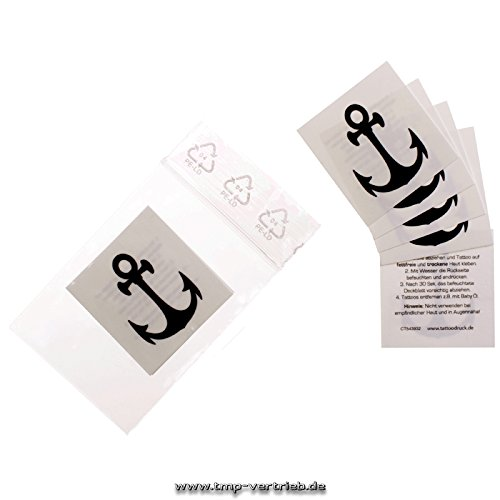 5 x kleine Anker Tattoos - kleine temporäre Seemann Tattoos - small Anchor (5)